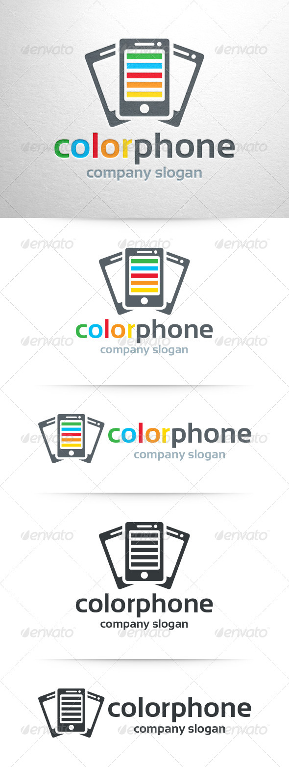 GraphicRiver Color Phone Logo Template 8359243