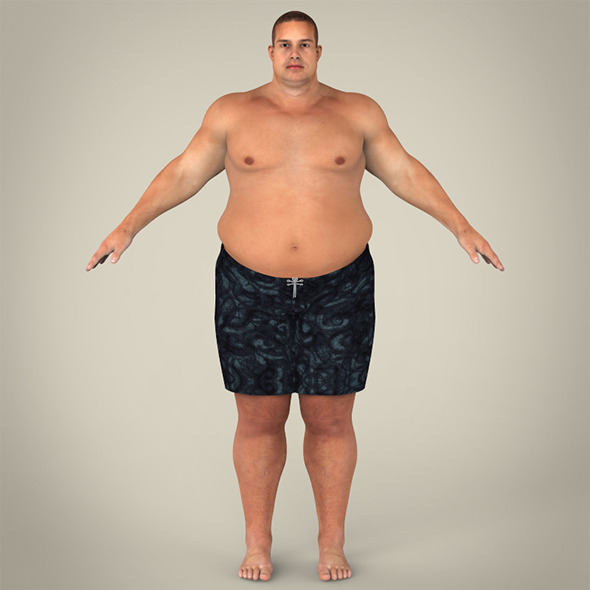 3DOcean Realistic Fat Man 8359870