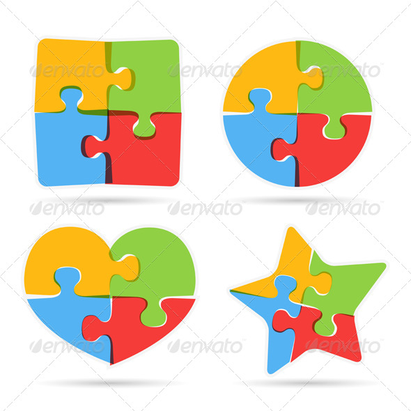 GraphicRiver Puzzle Objects 8360102