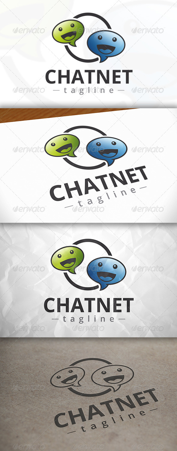 GraphicRiver Happy Chat Logo 8361404