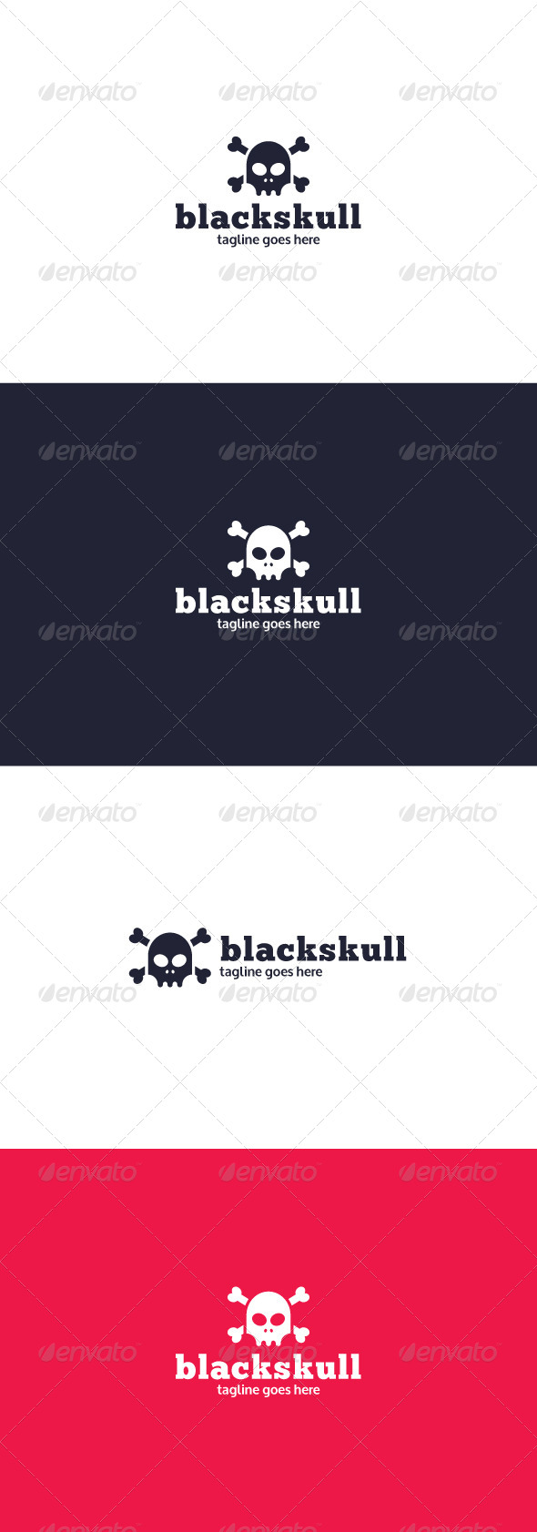 GraphicRiver Black Skull Logo 8362262