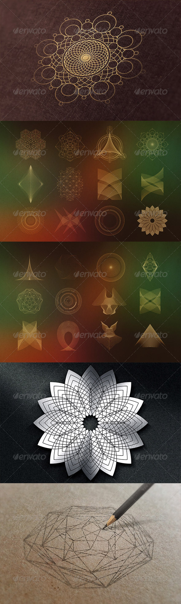 GraphicRiver 24 Geometric Shapes Lines v.2 8364395