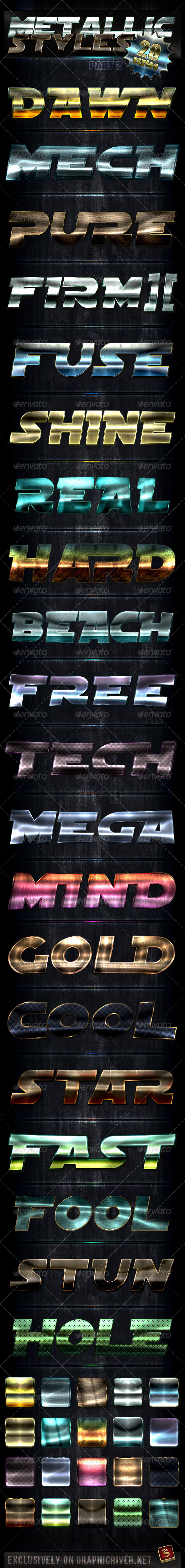 Unique Metallic Styles - Part 2 - Text Effects Styles