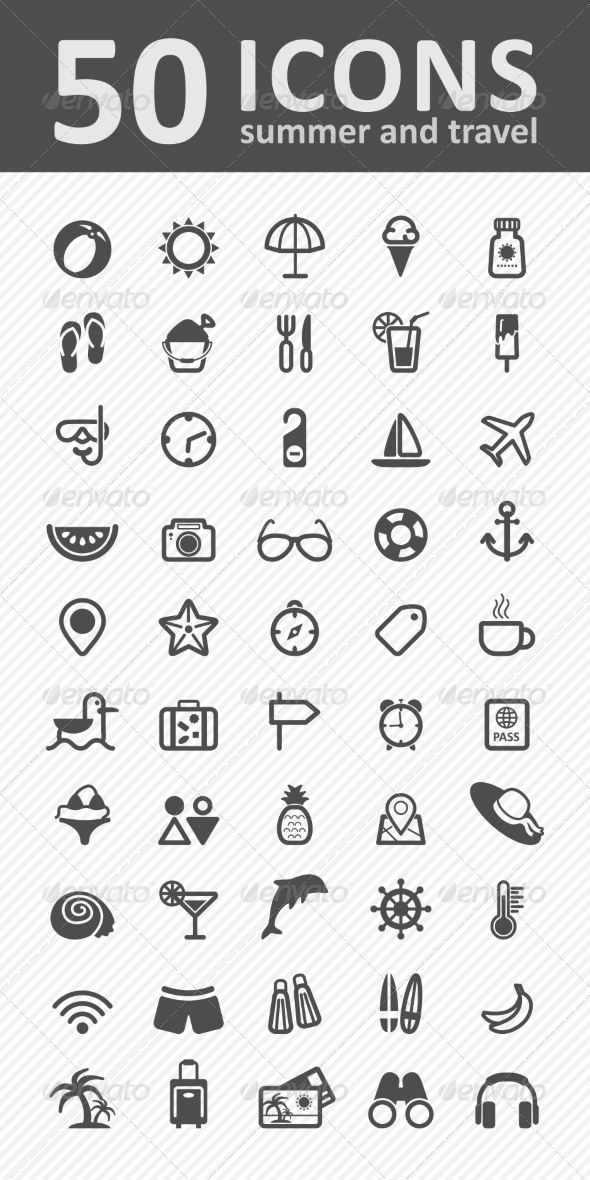 GraphicRiver Vector Summer Icon Set 8364448