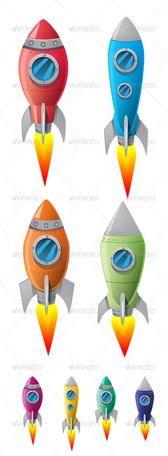 GraphicRiver Rockets 8364486