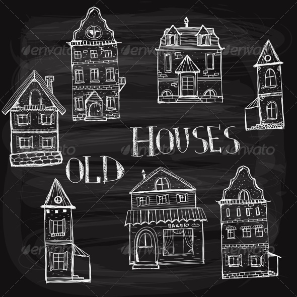GraphicRiver 7 Old Styled Houses 8364493