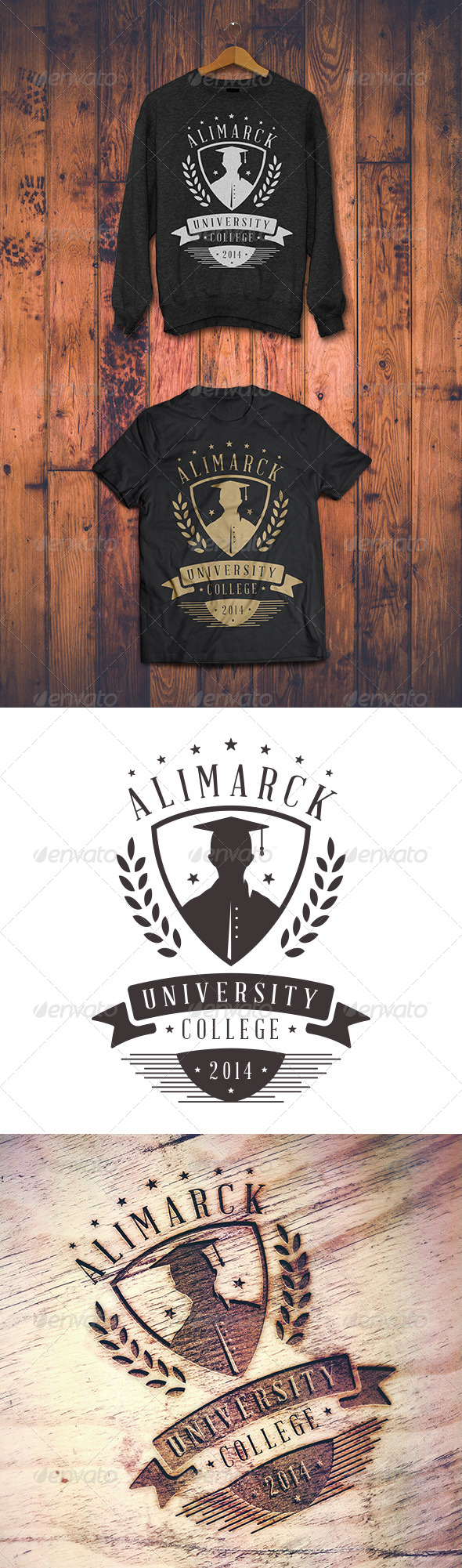 GraphicRiver University T-shirt 8364585