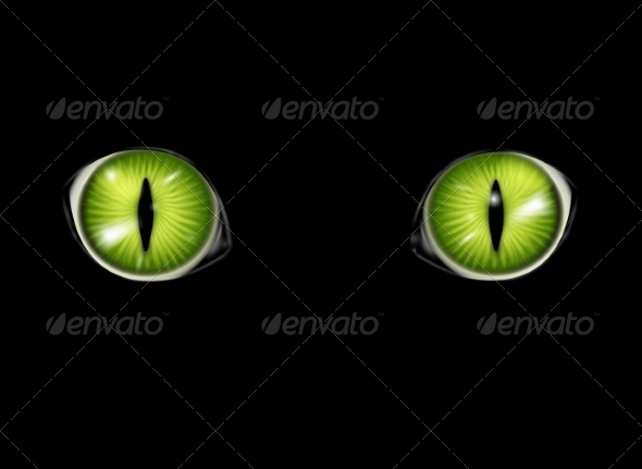 GraphicRiver Cat Eyes Background 8364596