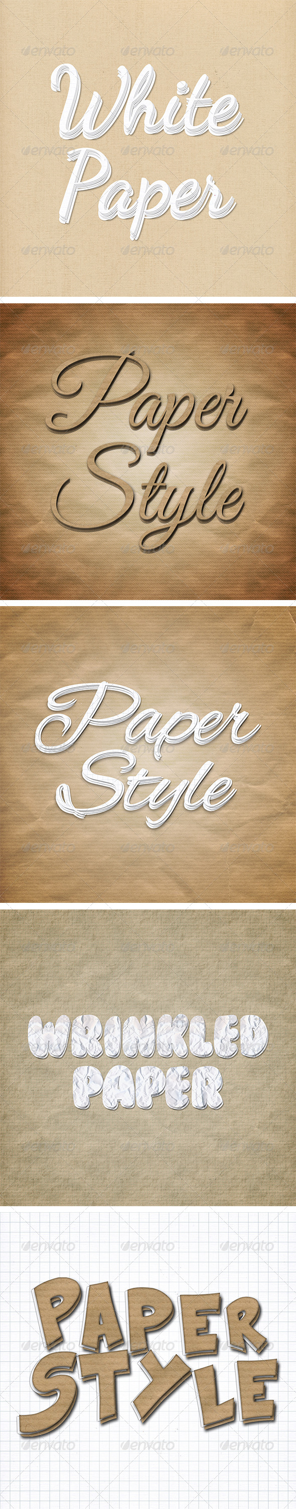 GraphicRiver Paper Text Styles 8364643