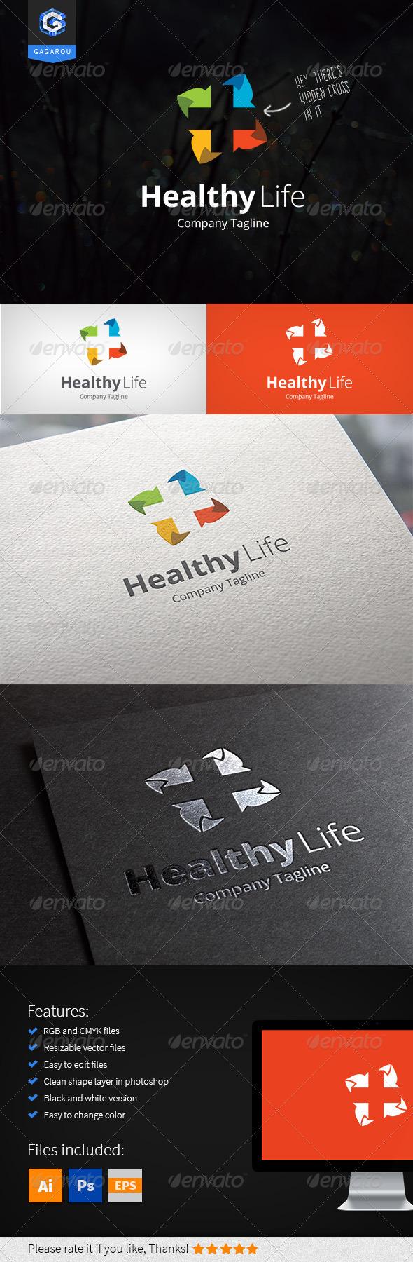 GraphicRiver Healthy Life Logo 8364642