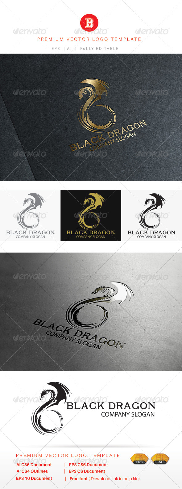GraphicRiver Black Dragon 8364646