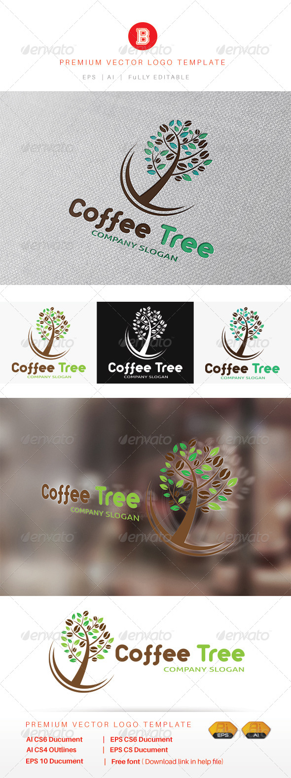 GraphicRiver Coffee Tree 8364658