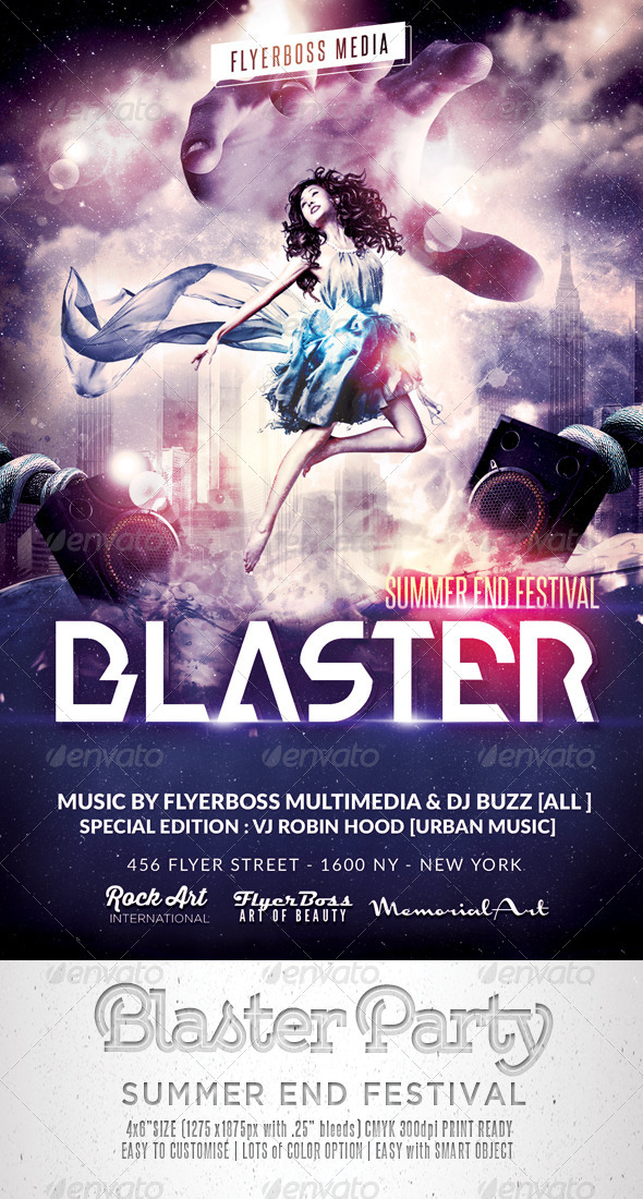 GraphicRiver Blaster Music Flyer 8364697