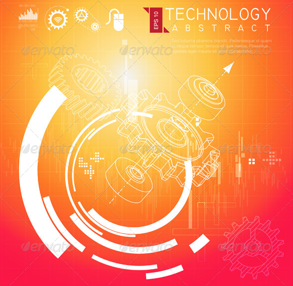 GraphicRiver Abstract Technical Background 8364739