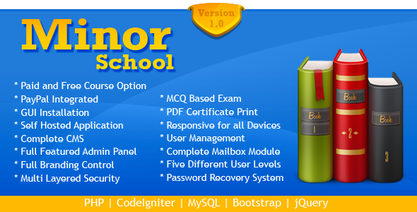 CodeCanyon MinorSchool Online Exam System MCQ 8225568
