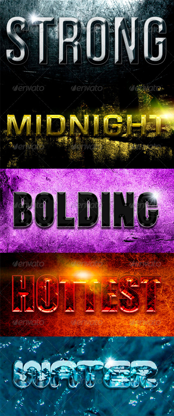 GraphicRiver Versatile Text Effects & Styles 8364763