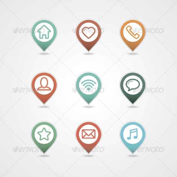 GraphicRiver Mapping Pins Icon 8364778