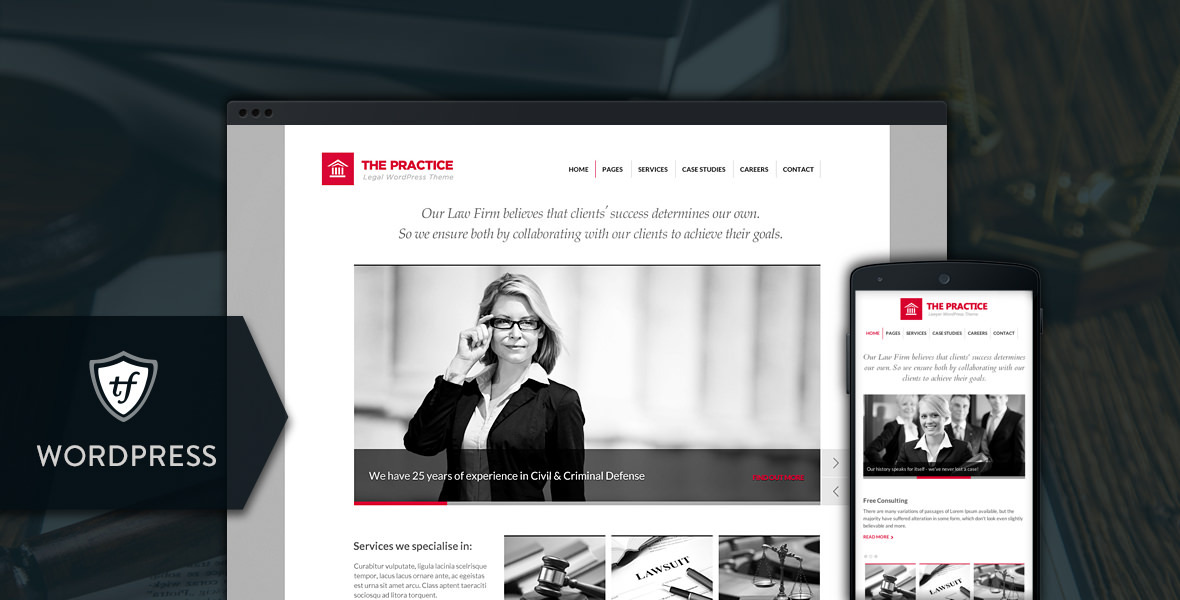 The Practice - Lawyer WordPress Theme