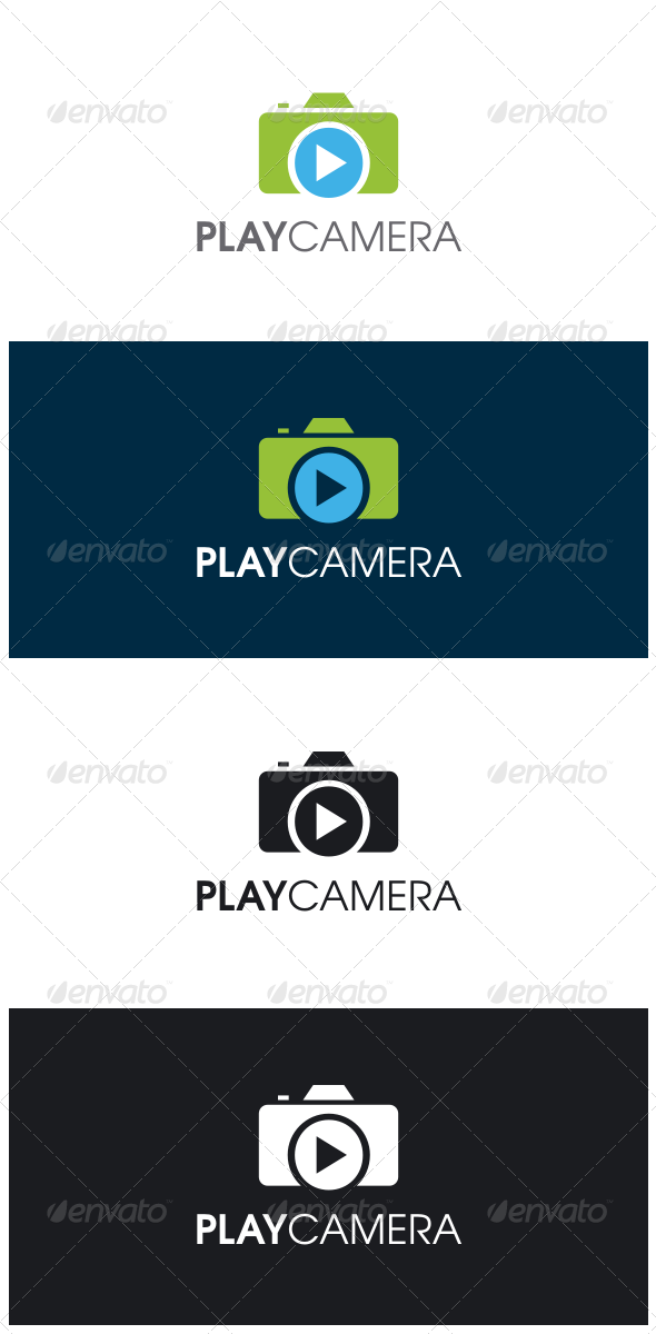 GraphicRiver Play Camera Logo 8365016