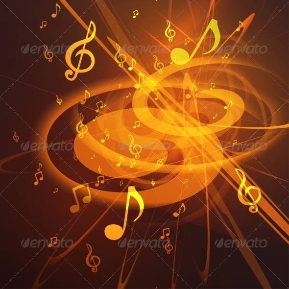 GraphicRiver Abstract Music Background 8365157