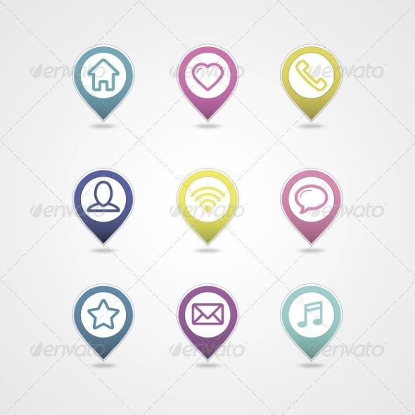 GraphicRiver Mapping Pins Icon 8365162