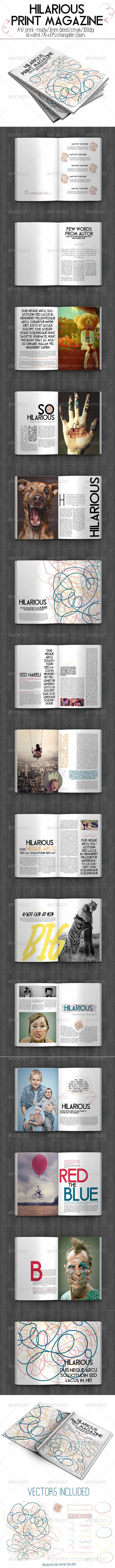 GraphicRiver Hilarious Print Magazine 8365168