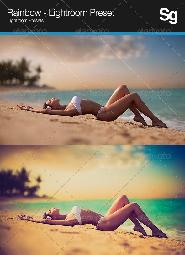 GraphicRiver Rainbow Lightroom Preset 8365196