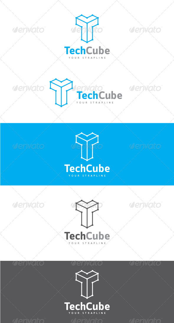 GraphicRiver Tech Cube Logo 8365296