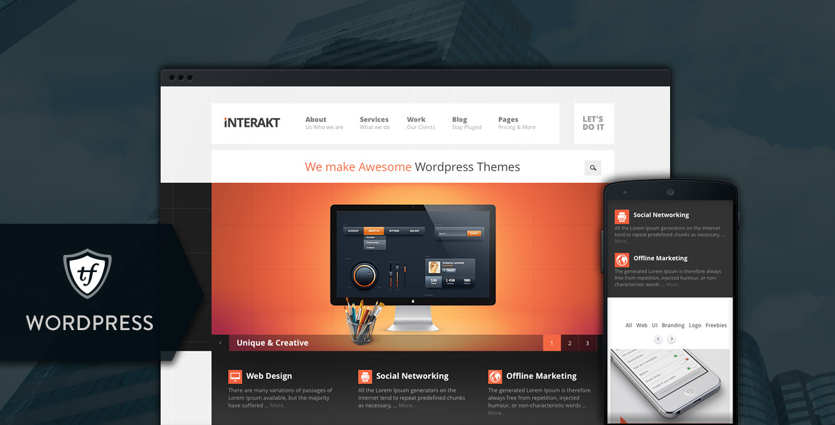 Interakt Agency - Responsive WordPress Theme