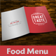 Simple Bifold Food Menu