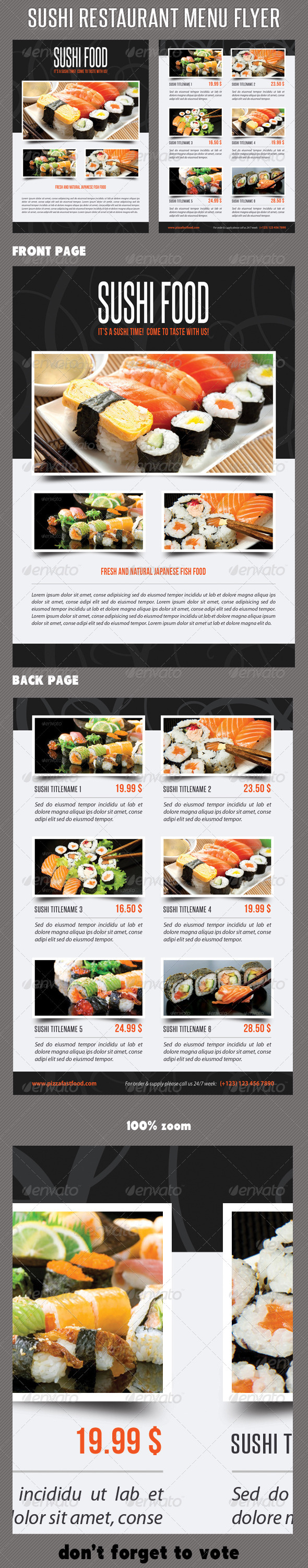 GraphicRiver Sushi Restaurant Menu Flyer V01 8365878