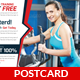 Fitness Health Postcard Template - GraphicRiver Item for Sale
