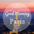Good Morning Paris France on blur background - PhotoDune Item for Sale