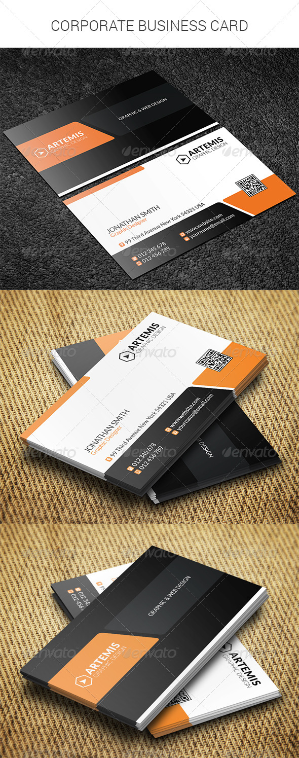 GraphicRiver Corporate Business Card 8366069