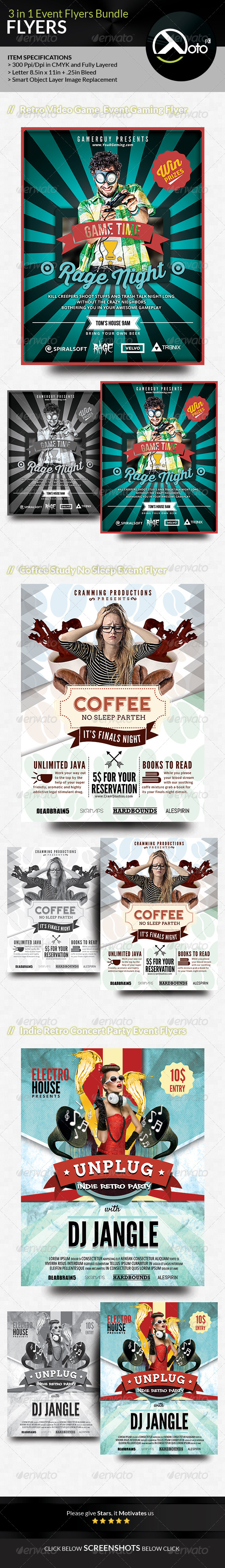 GraphicRiver Event Flyer Bundle Set 2 8366122