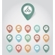 Mapping Pins Icons Travel - GraphicRiver Item for Sale