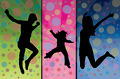 Jumping family silhouette - PhotoDune Item for Sale