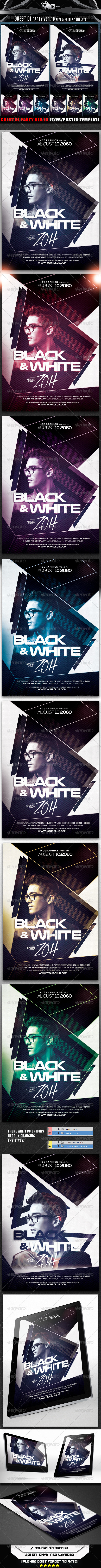 GraphicRiver Guest DJ Party Ver.10 Flyer Poster Template 8366251