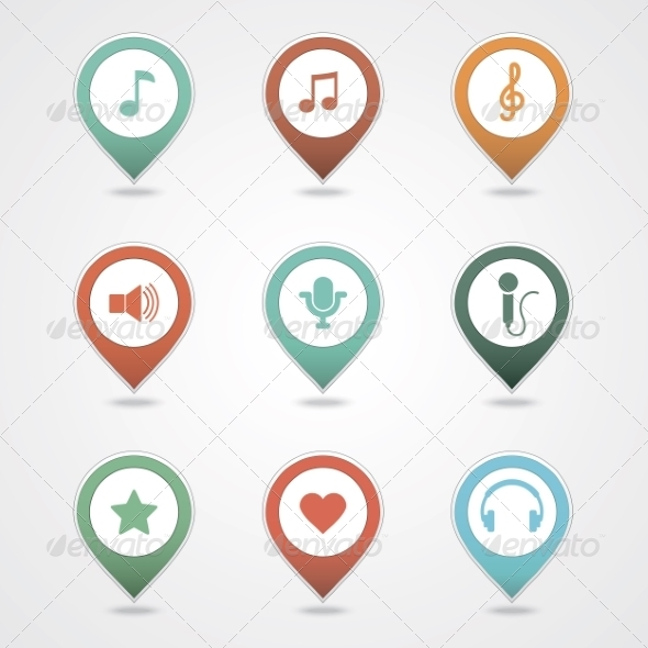 GraphicRiver Mapping Pins Icon 8366254