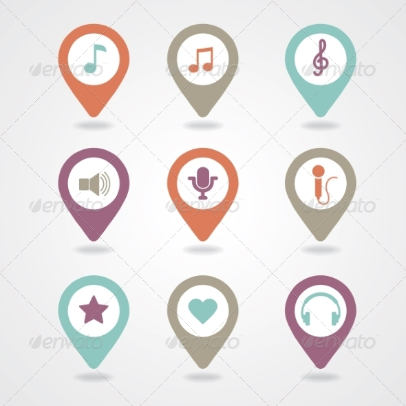 GraphicRiver Mapping Pins Icon 8366256