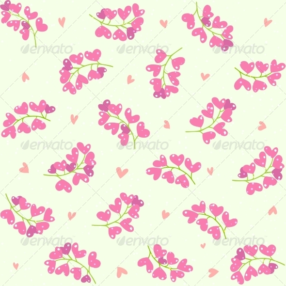 GraphicRiver Heart Berries Seamless Pattern 8366436