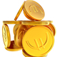 Stacks of gold EURO coins - PhotoDune Item for Sale