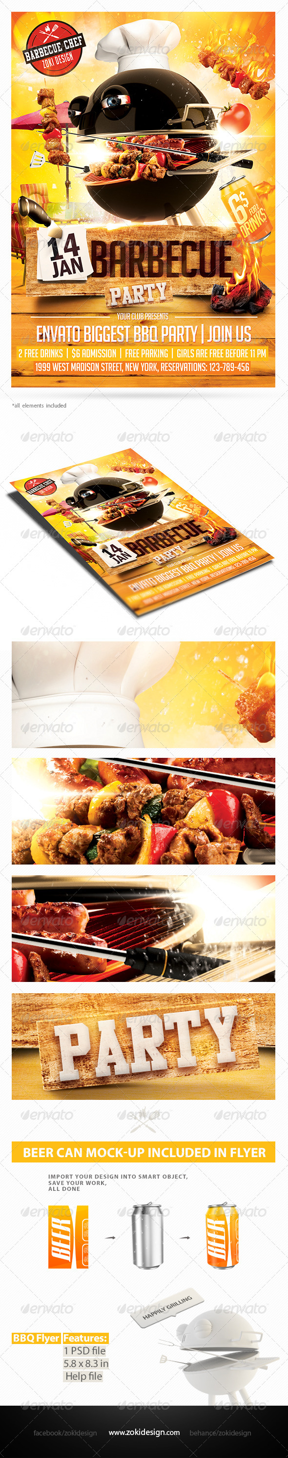 GraphicRiver Barbecue Party Flyer 8366794