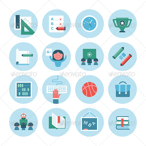 GraphicRiver Collection of Education Icons 8366802