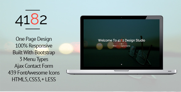 ThemeForest 4182 Responsive One Page HTML5 Template 8366808