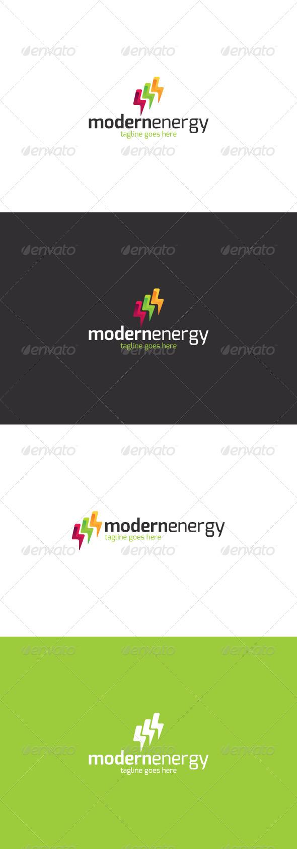 GraphicRiver Modern Energy Logo 8366809