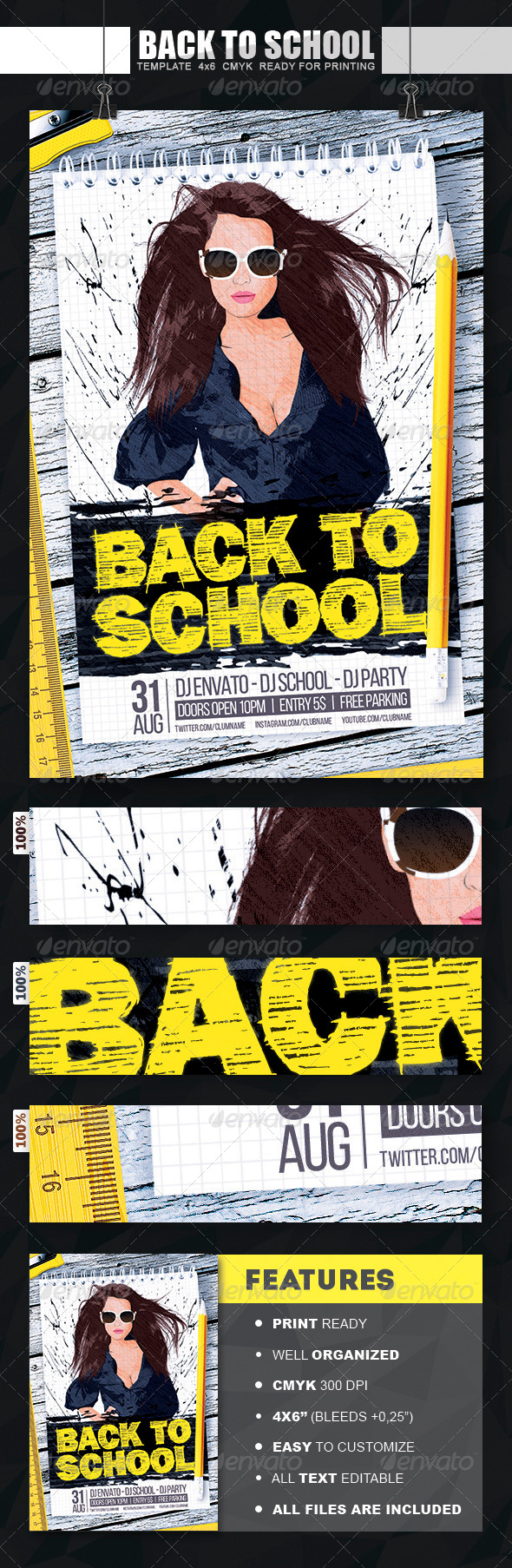 GraphicRiver Back To School Flyer 8366811