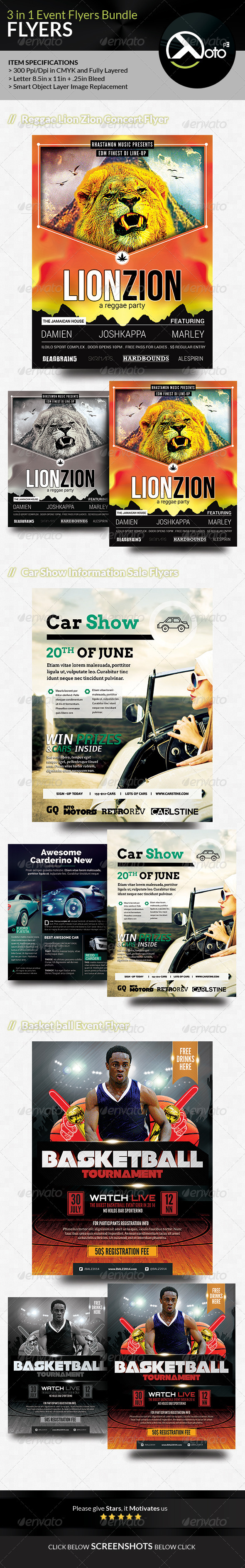 GraphicRiver Event Flyer Bundle Set 1 8367932