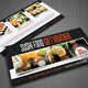 Sushi Restaurant Menu Gift Voucher V20 - GraphicRiver Item for Sale