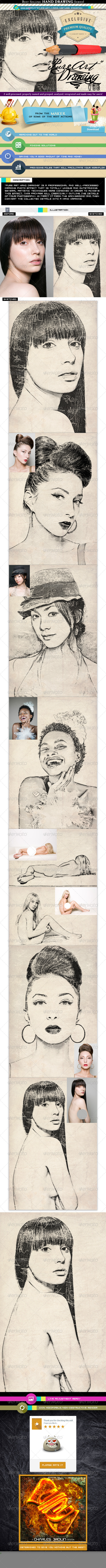 GraphicRiver Pure Art Hand Drawing 96 Celebrity Autograph Art 8353797